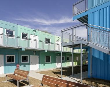 Containeranlagen Asylunterkunft